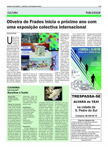 Exhibition In Oliviera De Frades PORTUGAL Opening In Jan 14